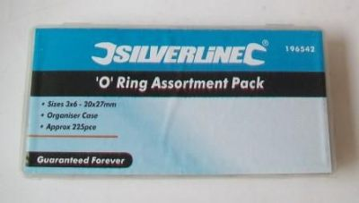 Silverline 225 Piece Rubber O Ring Box - 54001461